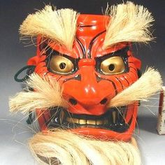 Japanese Tengu Mask 318 Ceramic Demon Devil Buddhism Noh Tattoo Art Wall Decor | eBay Tengu Tattoo, Japanese Noh Mask, The Devil Inside, Arabian Nights, Tattoo Art, Demons, Office Ideas, Buddhism, Wall Art Decor