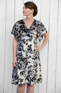 This is the Ladies FREE VERSION of the Portia Party Dress. It includes ONE length option (knee length), and pattern pieces & instructions for KNIT fabrics only. It's a quick, easy and beautiful sew!Note – This free version is not suitable for woven fabrics. If you wish you use woven fabrics, you will need to purchase the full version of the pattern.