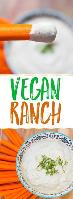 Vegan Ranch Dressing with Fresh Dill- made with the magical creamy power of cashews! Vegan/Gluten-free