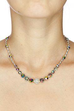 Crystal Necklace Swarovski Crystal Beaded Necklace by DevikaBox, $56.00