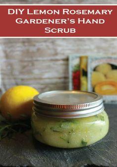 This DIY Lemon & Rosemary Gardener's Hand Scrub is great for when liquid soap just won't do the job!