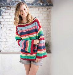 4b25a60e6da Modèle pull femme crochet Phil Coton 3 - Modèles Femme - Phildar - Anneloes  de Niet