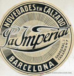 DIBUJO PUBLICITARIO ORIGINAL AÑOS 30 : CALZADOS LA IMPERIAL BARCELONA - Foto 1