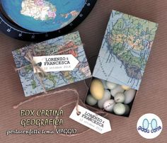 Diy MAP FAVOR BOX  scatolina portaconfetti di giadacontewedding