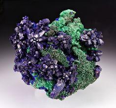 mineralia | Azurite with Malachite from Morocco by Dan...