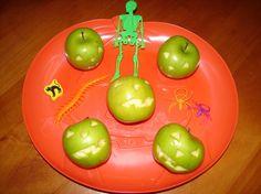 apple jack-o-lanterns