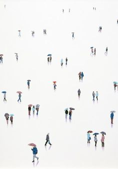Beautifully uncrowded paintings of crowds by London-based artist Stephanie Ho. See more of Hos perfectly placed figures, set against minimalist backgrounds, below. Stephanie Hos Website Stephanie Ho on Saatchi Art Minimalist Artwork, Minimalist Wallpaper, Minimalist Design, Architecture Graphics, Cute Wallpapers, Art Inspo, Aesthetic Wallpapers, Planer, Line Art