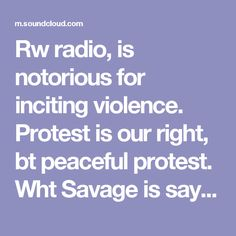 Rw radio, is notorious for inciting violence. Protest is our right, bt peaceful protest. Wht Savage is saying, cld easiky be taken by some mentally impaired person & take it to a very dangerous level. And lets be honest, if youre listening to this kinda crap & pire propaganda & bs, has to be a little off 👉Savage: Armed Men Should Protest At Schumer's House by RightWingWatch - Listen to music