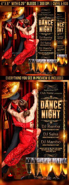 Salsa Night Flyer Template PSD Flyer Templates Pinterest - movie night flyer template