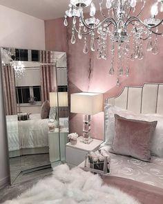 30 Pretty Pink Bedroom Design Ideas That Inspire You Pink Bedroom Design, Pink Bedroom Decor, Glam Bedroom, Bedroom Ideas, Master Bedroom, Bedroom Designs, Pink And Silver Bedroom, Bedroom Green, Bedroom Modern
