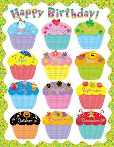 birthdays calendar template - Google Search
