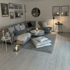 living room inspiration 51 brilliant solution small apartment living room decor ideas and remodel 12 Small Apartment Living, Small Living Rooms, Home And Living, Modern Living, Small Apartments, Living Room Ideas Modern Grey, Living Room Ideas Black And White, Simple Living, Modern Couch