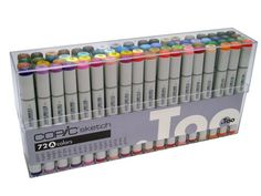 Copic Sketch Marker   72 set A; the cheapest set I have found anywhere! I purchased the 72 set for only $317! They are $352 on sale plus free shipping plus 10% off copics (so - $35.23), totaling $317! That's $4.40 a marker!