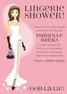 f924b4212228 Doc Milo x Shower Invitations  ooh-la-la lingerie (blonde) - Personalized