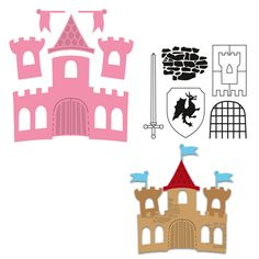Marianne Design - Collectables Dies & Stamp Set - Castle COL1404