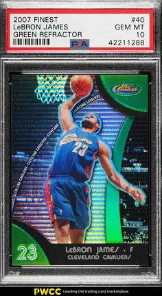 2007 Finest Green Refractor LeBron James HEAT JSY   6 149  40 PSA 10 GEM  (PWCC)  LeBronJames  PSA10  sportscards fb3ea61b7f56