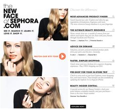 SO EXCITED about Sephora's website facelift!!! Looking sex-ay, Sephora!