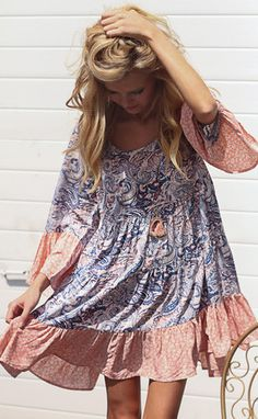 paisley baby tier dress
