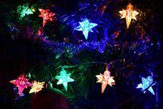 Vánoční LED osvětlení - barevné hvězdy - 40 LED   T-zbozi.cz