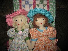 A Doll Shop of My Own: Belinda and Lucinda-Edith Flack Ackley pattern dolls Doll Clothes Patterns, Doll Patterns, Voodoo Dolls, Doll Shop, Doll Maker, Hello Dolly, Soft Dolls, Doll Crafts, Fabric Dolls