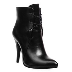 Stylish Women's High Heel Boots With Solid Color and Pointed Toe Design $17.01