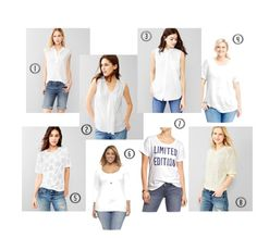 Putting together a white wardrobe capsule.