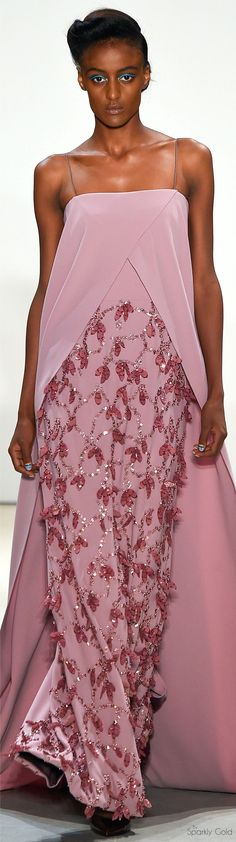 """Bibhu Mohapatra Spring 2016 RTW """"And the LORD said to Moses, """"Go to the people and consecrate them today and tomorrow. Have them wash their clothes."""" Exodus 19:10"""