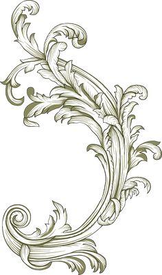 Baroque Pattern, Pattern Art, Graphic Design Art, Print Design, Flourish Border, Doodle People, Paisley Art, Black And White Design, Border Design