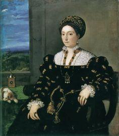 1536 Portrait of Eleonora Gonzaga della Rovere by Titian with ornamented…