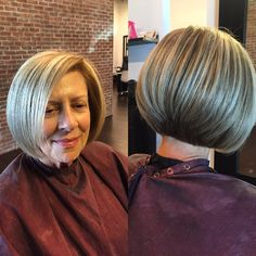 Beautiful classy bob with highlights