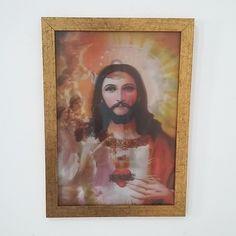 Estampa tipo '3D' de 24 x 34 cm em moldura baixa dourada (2018-59). #cidomolduras #quadros #molduras #moldura #frame #framed #deco #design #parede #arte #artesacra