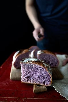 We are in love with this Purple Yam Boule from @LadyandPups It looks so unusual, but absolutely wonderful! // bread, vegan, bread flour
