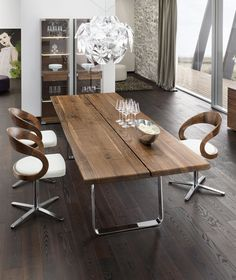 Modern Interior Design And Home Decorating Ideas Celebrating Natural Wood Beauty Metal Dining Tabledining