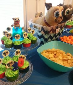 Puppy Dog Pals cupcake cake Boys First Birthday Party Ideas, Puppy Birthday Parties, Birthday Cakes For Men, Baby Boy Birthday, Puppy Party, Paw Patrol Birthday Theme, Bingo, Cupcakes For Boys, Cupcake Party