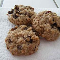 Soft Oatmeal Rasin Cookies ***PINTEREST WIN*** Made these for the first time last week. I'm not even a fan of raisins, but these were amazing. I used Porridge Oats(Walmart) with oat bran and flax seed.I also soaked the raisins in hot water for 10 minutes and drained. So good!