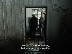 """""""You dream of one thing, but you got quite another."""" - Andrei Tarkovsky's """"Stalker"""", 1979."""