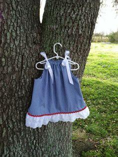Blue Gingham Pillowcase Dress Dorothy Oz Themed
