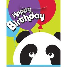 Birthday Panda Favor Bags (8 Count), Multicolor  Bought at Amazon for under $2.00.  The bags are bigger than most 8pks.
