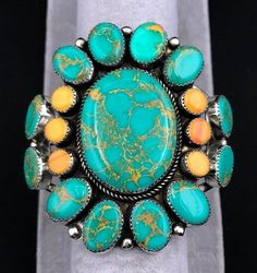 Jewelry & Watches Self-Conscious Turquoise Gold Wire Cuff Bracelet