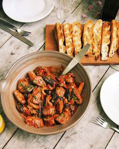 Lamb, raisins, eggplant and PISTACHIOS - a combination of my favorites