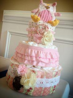 Custom Diaper Cakes Garden Shabby Chic on Etsy, $65.00