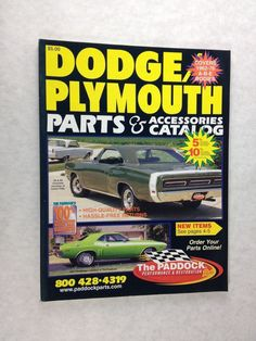 PADDOCK'S DODGE PLYMOUTH parts catalog covers A B and E bodies 1962 to 1976