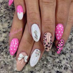 Switch it up a bit! My new stiletto nails