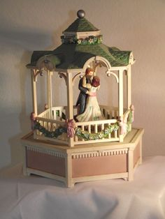 Vintage Wind Up Music Box by Enesco by AbbysAttic4Charity on Etsy, $38.00