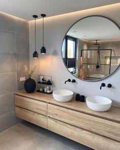 Bathroom Design Luxury, Home Interior Design, Washroom Design, Interior Modern, Interior Styling, Modern Furniture, Bathroom Inspiration, Home Decor Inspiration, Bathroom Inspo