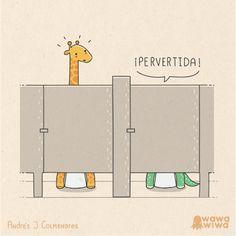 Pervert Art Print by Wawawiwa design - X-Small Illustrated Words, Spanish Jokes, Magic Quotes, Clean Jokes, Funny Illustration, Humor Grafico, Funny Love, Funny Cartoons, Puns