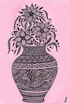 Easy Doodle Art, Doodle Art Designs, Doodle Art Drawing, Zentangle Drawings, Easy Zentangle, Easy Mandala Drawing, Mandala Art Lesson, Mandala Artwork, Mandala Sketch