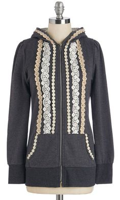 I bet I could embellish a plain hoodie to be something like this....hmm....food for thought....