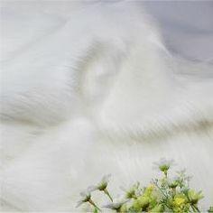[ 30% OFF ] High-Grade White Fox Fur Fabric, Imitation Animal Fur, Velvet Fabric Warm Winter Clothing Fabrics For Sewing, Width80Cm