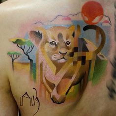 This Tattoo Artist Incorporates Pixels into His Beautiful Designs ...